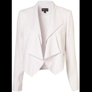 TopShop Cream Waterfall Cropped blazer